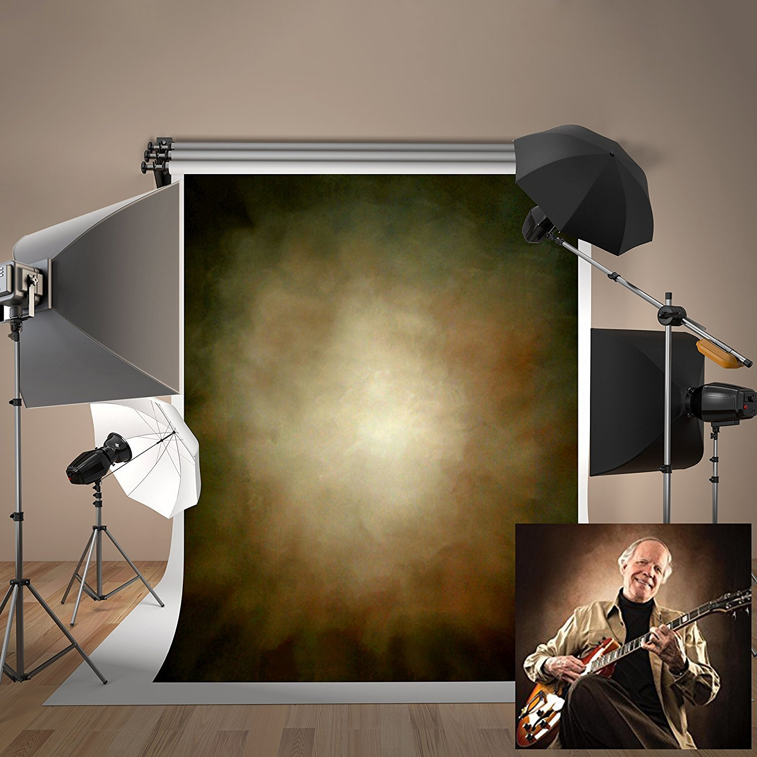 5ft(W) x7ft(H) Portrait Texture Photo Backdrops Brown Abstract Grunge Background Microfiber Photo Studio Props for Photographer Teenager Adult