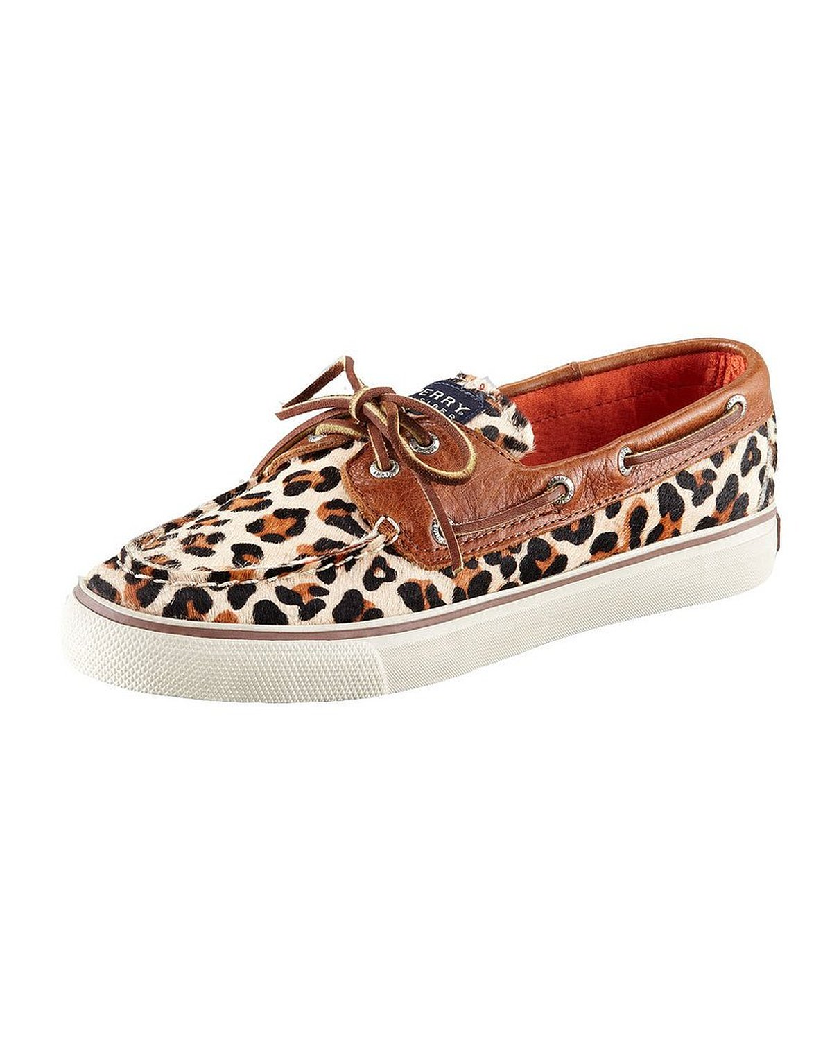 eef7072985 Get Quotations · Sperry Top-Sider Bahama Leopard Pony Womens Leopard Pony Boat  Shoes