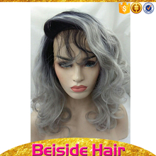 Most fashion popular hair in european , heat resistant material thin skin lace frontal custom wig