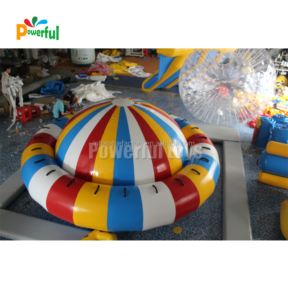 4m commercial grade inflatable disco boat, rotating towable disco boat