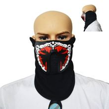 <span class=keywords><strong>Halloween</strong></span> Neon Party Masker Voice Activated Led Masker Led Gezichtsmasker