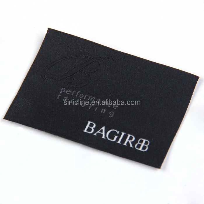 Sinicline garment black custom made clothing labels