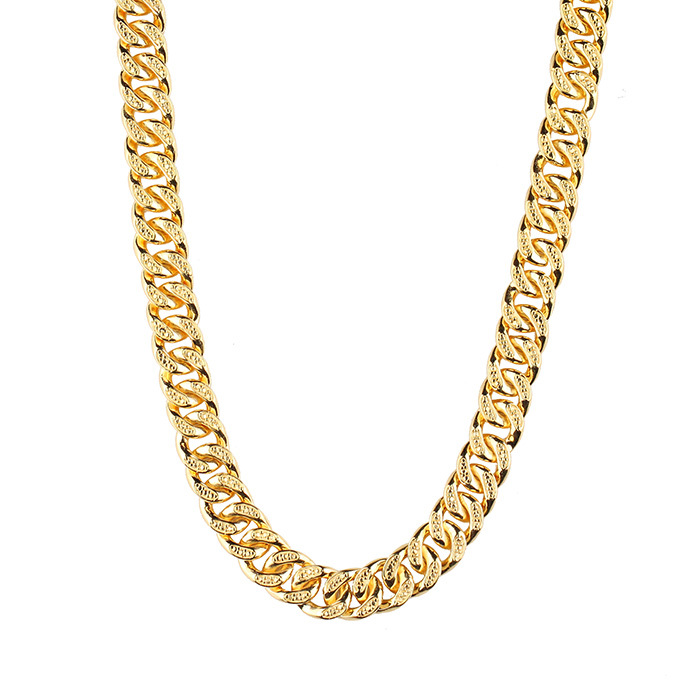 Missjewelry Gold Neck Cuban Link Chain Designs Weight Gold Chain ...