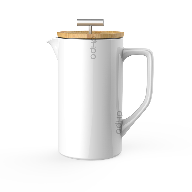 Porcelain Coffee French Press 800ml with SLS Plunger