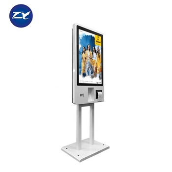 Remote Control 32 Inch Self Check Out Kiosk With Barcode Scanner For Supermarket
