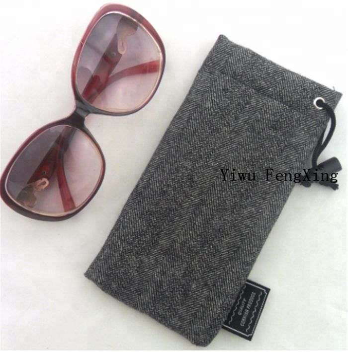 9400e6c22ec8 Gray Soft Sunglass Case Soft Eyeglass Pouch Reading Glasses Case ...