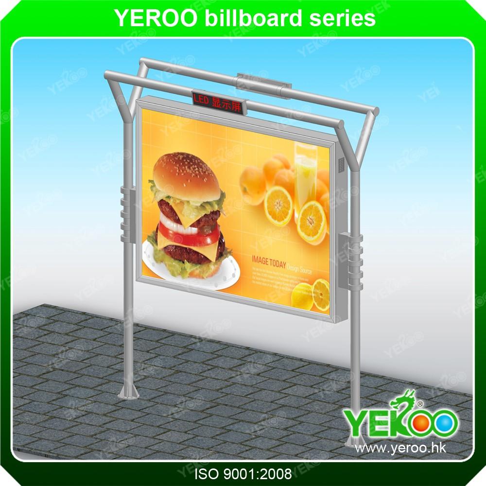 Marco de aluminio de publicidad publicidad exterior Billboard ...