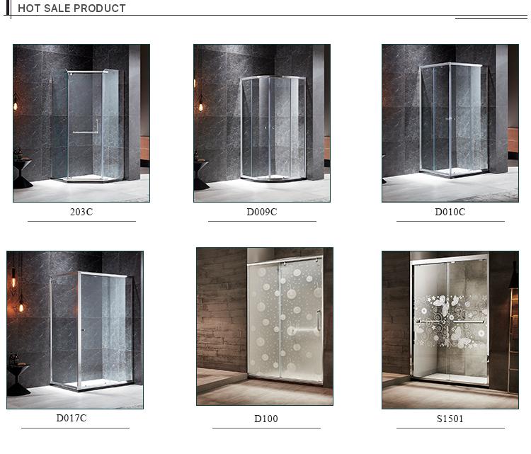 2019 venda quente sem moldura de vidro livre de pé cercos do chuveiro do banheiro da cabine