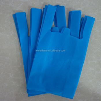 Blue Non Woven Pp Bag T Shirt Plastic Price