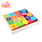 Educational wooden toys toys geometric shape blocks toys and hobbies for kids W11E068