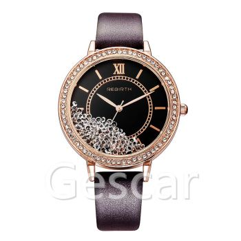 Rebirth RE200 hot sale high quality leather strap wrap quartz casual women wrist watch