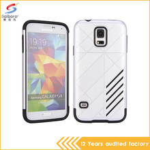 wholesale unique design silver color tpu pc cellphone cover for samsung galaxy s5 case