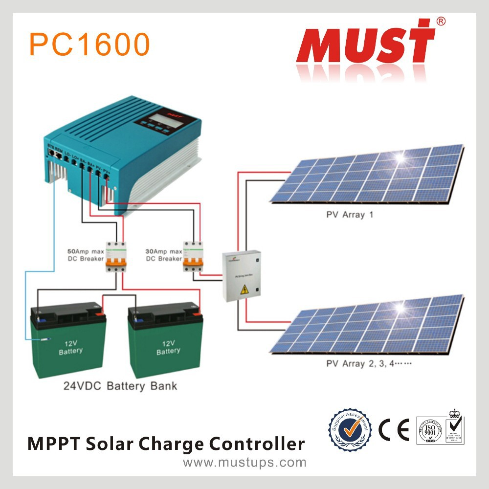 Must China Factory Off Grid Mppt Solar Charge Controller