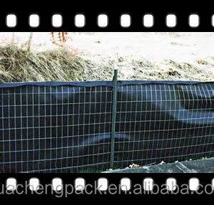 Wire Silt Fence With Heavy Duty Pp Woven Geotextile Buy