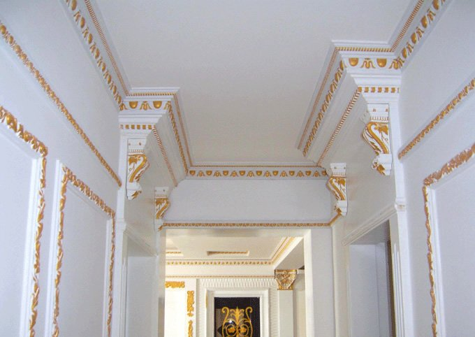 Colorful Gypsum Cornice Centre Panels rose