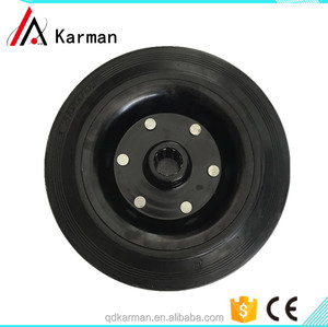Widely used heavy duty hand trolley solid rubber wheel