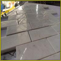 Handcraft carrara white marble kitchen wall subway tile