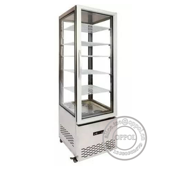 Op A1304 Stainless Steel Glass Door All Four Sides Display Beverage