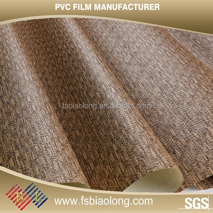 Furniture Decoration high quality pvc overlay film , pvc film , soft pvc film