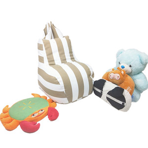 Wholesale price and Promotion productsStuffed Animal Storage Bean Bag/ Toy Organizer Bunny Rabbit Seat Bag for Kids