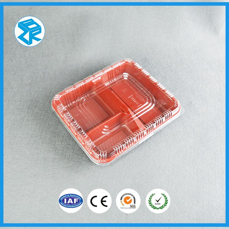 Vacuum Forming Recyclable Plastic Wholesale Disposable Bento Chrismas Food Box
