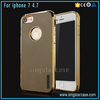 Pinhole Pattern Plating TPU Back Cover For iPhone7, Soft Eco-Friendly Phone Skin Case For iPhone 7