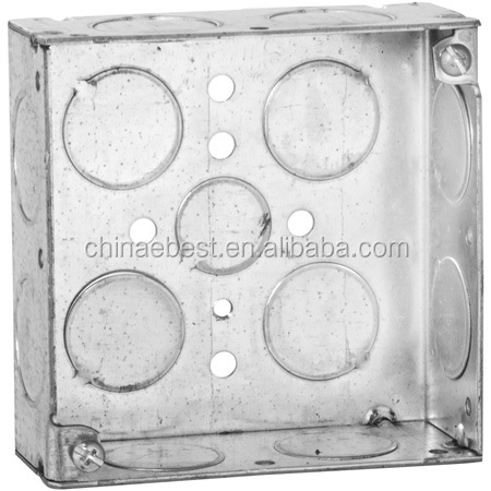 stainless steel electrical junction boxes metallic outlet box