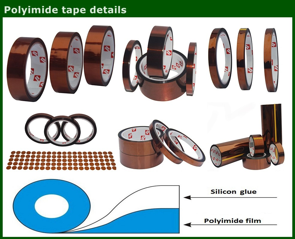 High Temperature Resistance Adhesive Coated Polyimide Capton Film Tape
