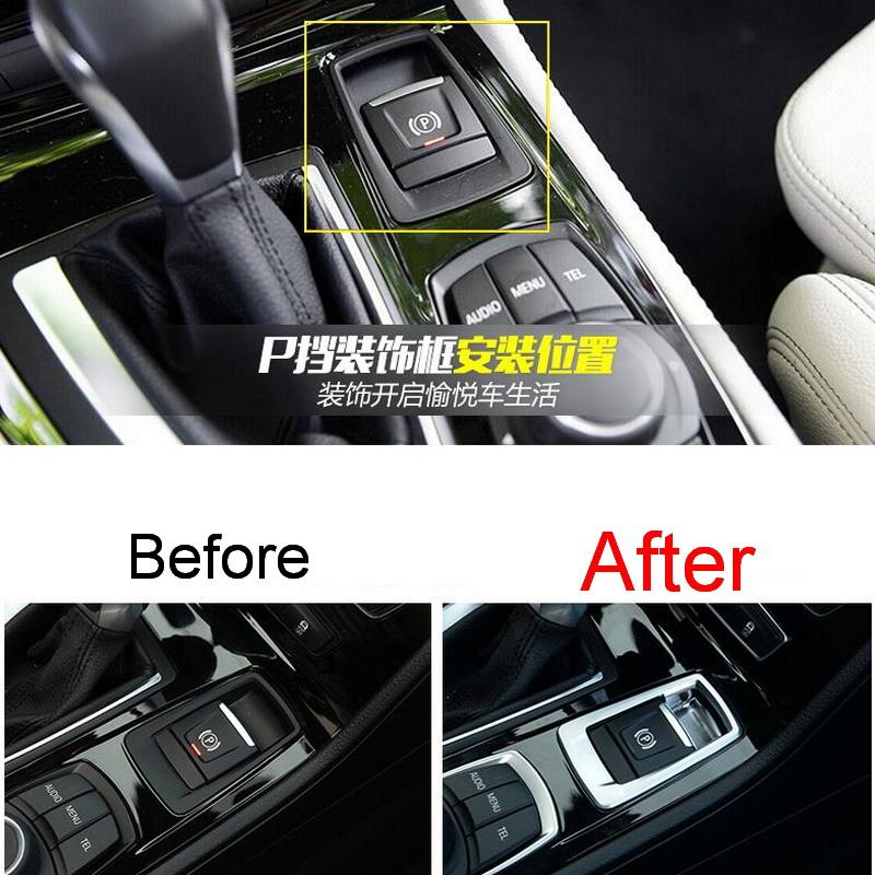 1 PCS Car Styling DIY NEW ABS Chrome Electronic Handbrake P Block Light Box Cover Case