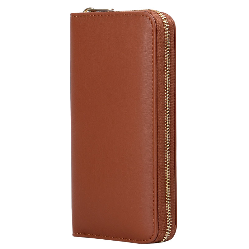 Shenzhen manufacturer of long zipper Coin Purse ,long zipper wallet,leather wallet for coin and card