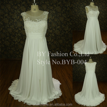 2016 Putih Gaun Pengantin Untuk Wanita Gemuk Nyata Gambar Gaun