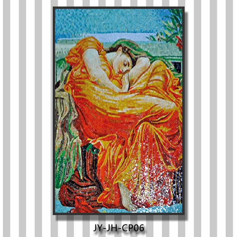 Jy-jh-cp04 Hand Cut Mosaic Art Famous Painting Artist