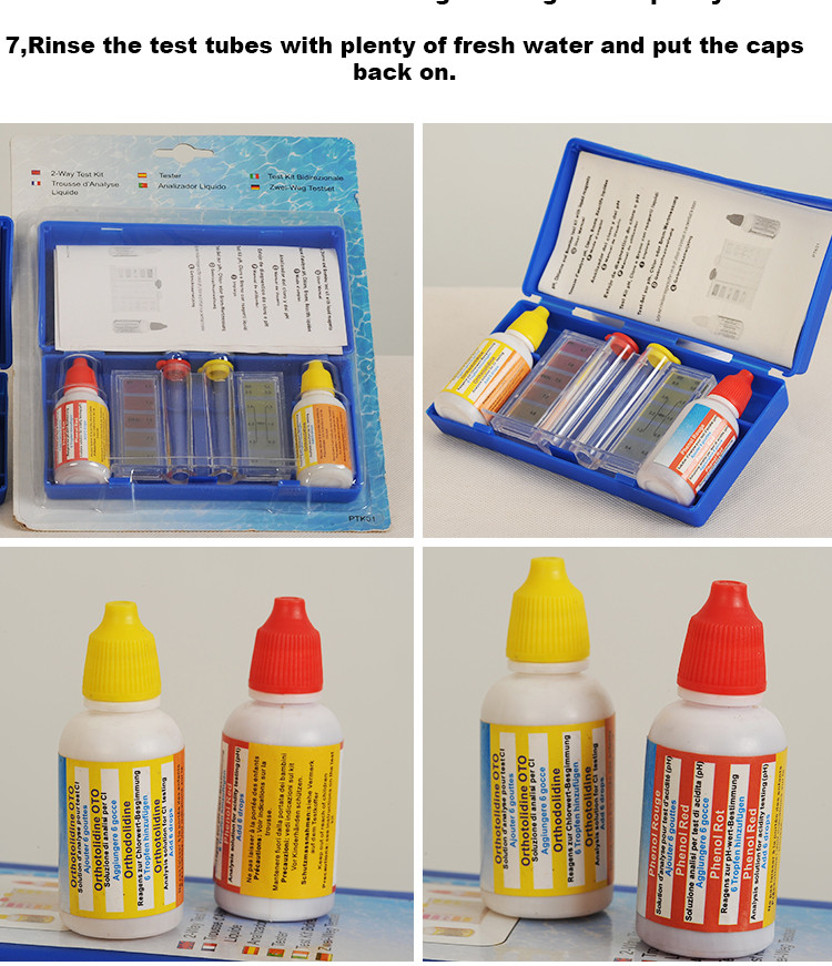 Efficient pool water test kits