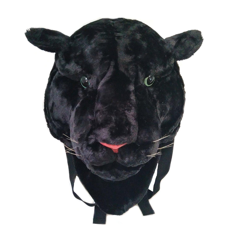 Glanzzeit 3D Animal Head Backpack Cool Design Tiger Lion Panther Knapsack