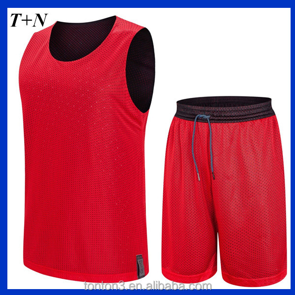 Polyester Breathable benutzerdefinierte Mesh Top Männer Training Team Reversible Sport Sublimation Basketball Jersey