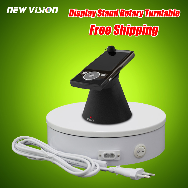 200 х 60 мм Диаметр Белый Тяжелых 3D Вращающийся Дисплей Стенд Поворотный Поворотный Стол с (25 КГ Centric Загрузка) 110 ~ 220 В
