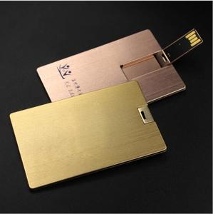 Corporate gift usb pen drive metal business card 16gb gold/ rose gold color