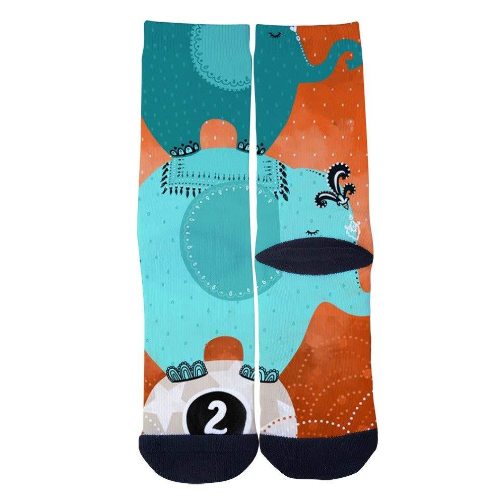 TheFun-Z Custom Popular Astronaut Socks Novelty Funny Cartoon Crew Socks Elite Casual Socks