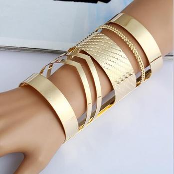 Open Wide Arm Cuff Bangle Bracelets