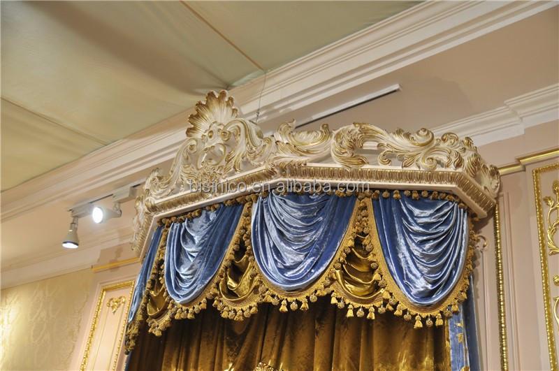 couronne royale garniture canopy chambre ensemble italian style affiche lit baldaquin mis en or - Chambre A Coucher Royal Italy