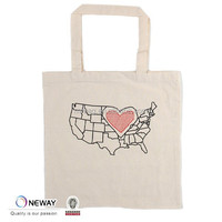Newway Factory China Personalized Logo Cotton Bag/Cheap Logo Shopping Tote Bags/10oz cotton canvas tote bag