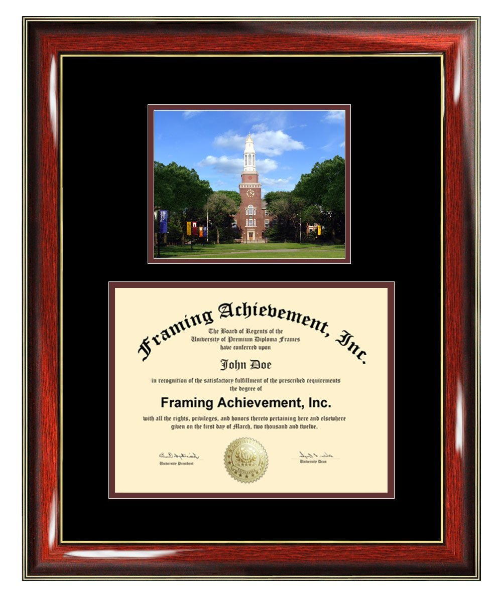 Brooklyn College Diploma Frame - CUNY Brooklyn Graduation Degree Frame - Matted Campus College Photo Graduation Certificate Plaque University Framing Graduate Gift Collegiate