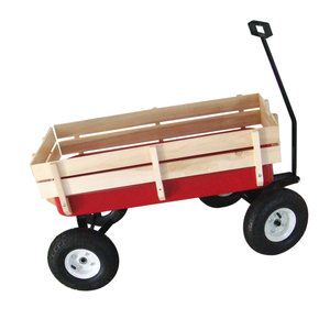 Wood material garden use wagon tool cart for sale