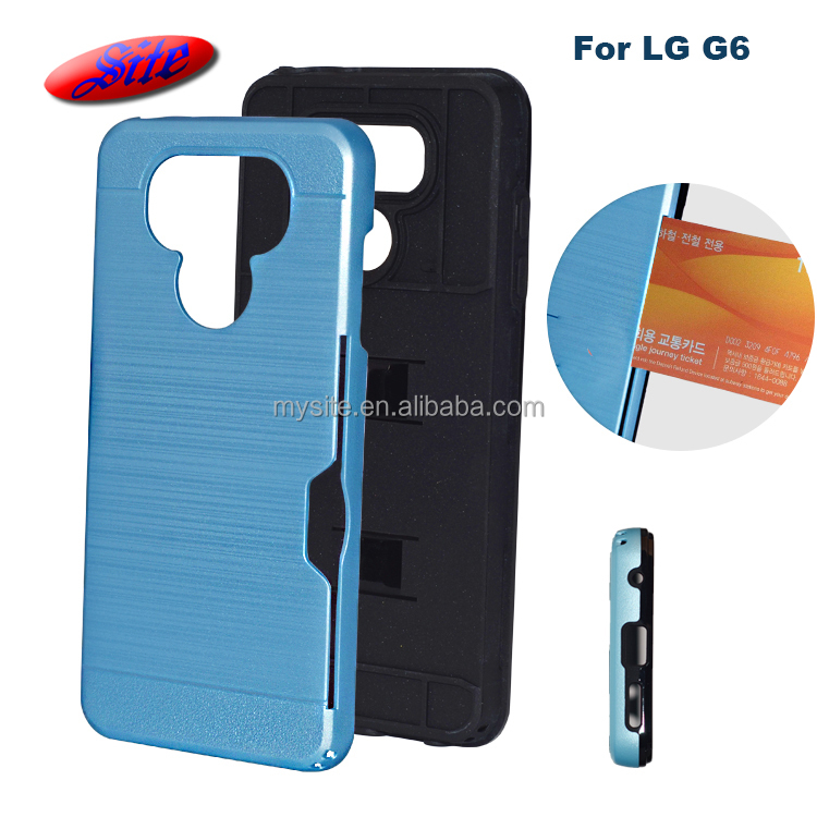 free sample design light up heat dissipation cell phone cases card slot phone accessories mobile case for LG G6