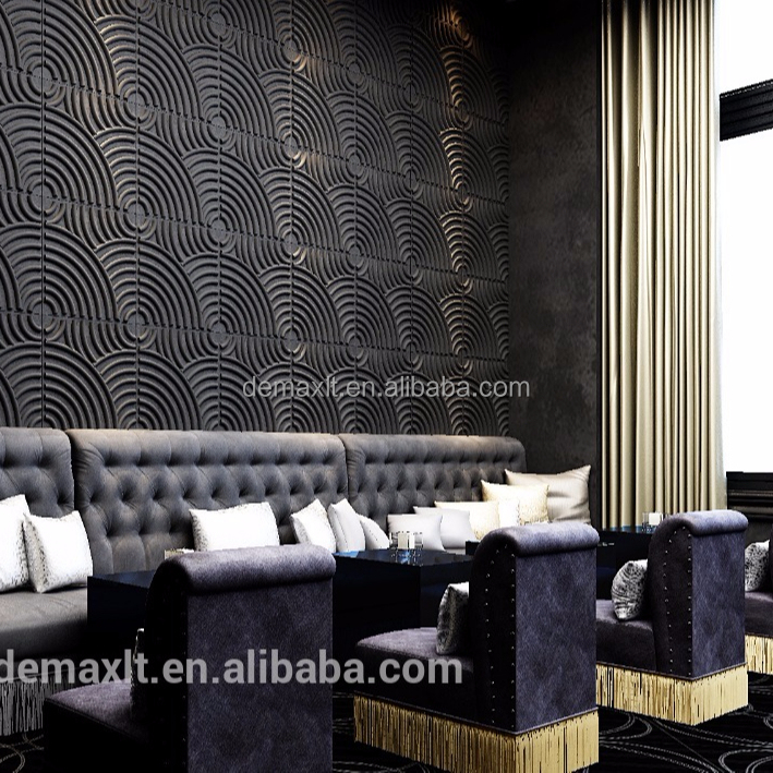 Acoustic Tv Wall 3d Textured Wall Covering Decorative Boards Panels