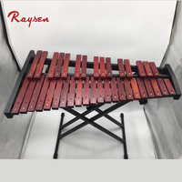 Orff musical instrument 37 tone xylophone red wood marimba