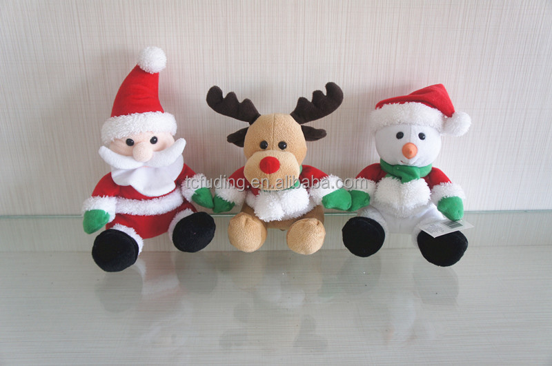 Christmas plush toy Snow Man, Santa Claus, Christmas promotional toys