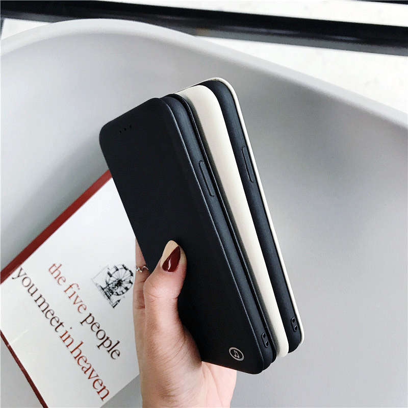 Amazon Top Selling Flip Leather Mobilephone Case For iPhone7/8 Plus Flocking inner Card Holder Wallet Phone Case For Apple IPX