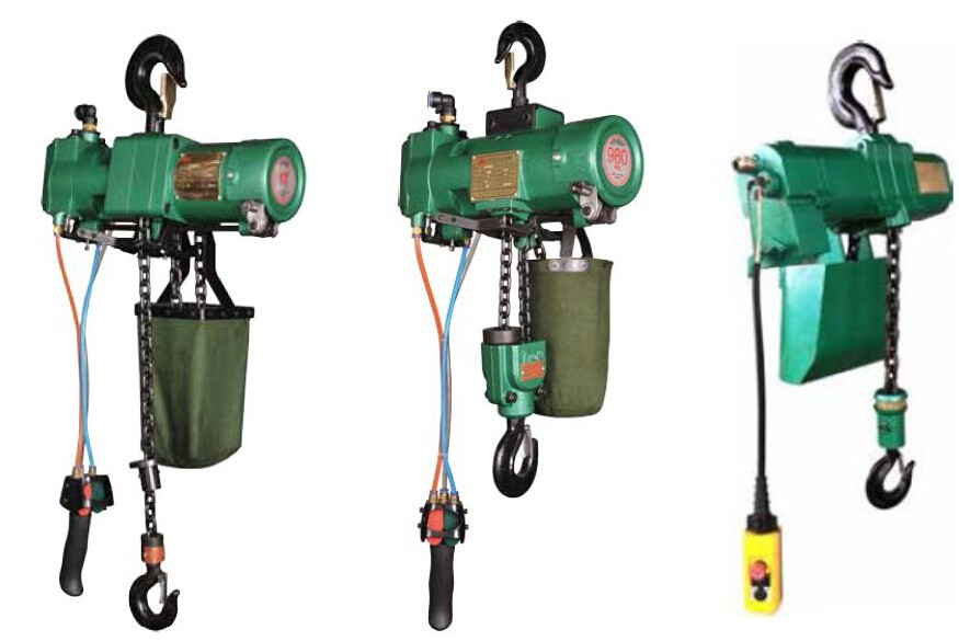 16T, 20T pneumatic air chain hoist