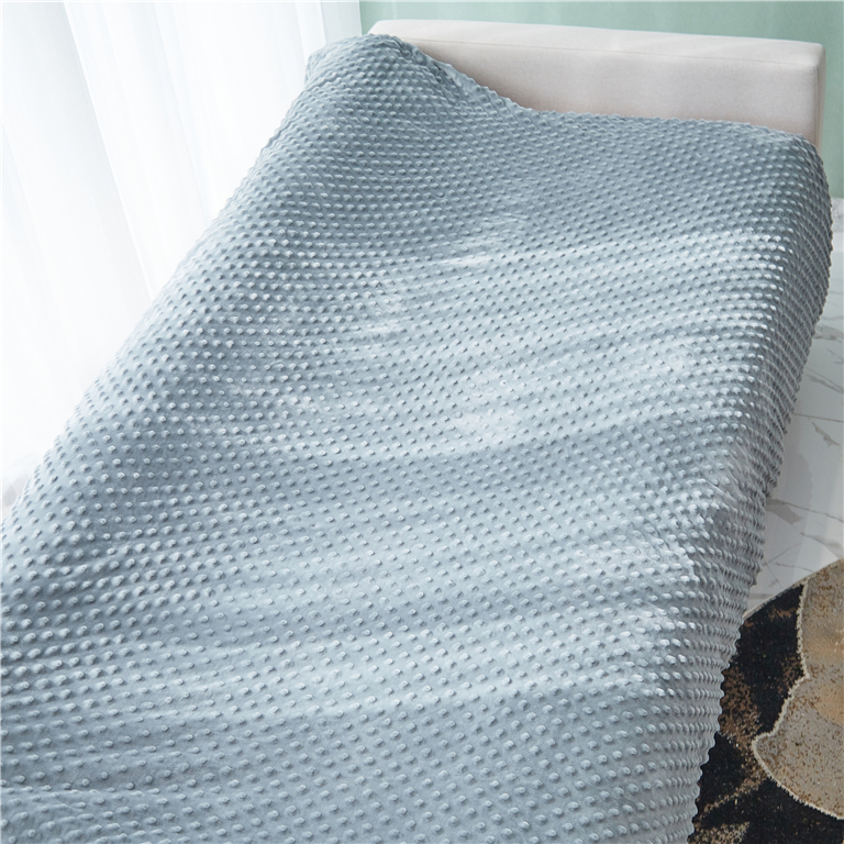 China Supplier Popular Custom Glass Beads Filling Cotton Fabric Weighted Blanket